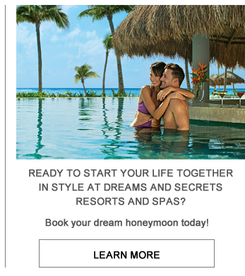 Couple in water at resort image