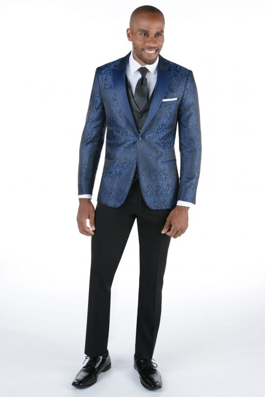 All Styles Blue Paisley Chase by Ike Behar