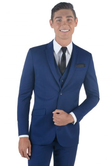 All Styles Oxford Blue Matteo Suit by Ike Behar
