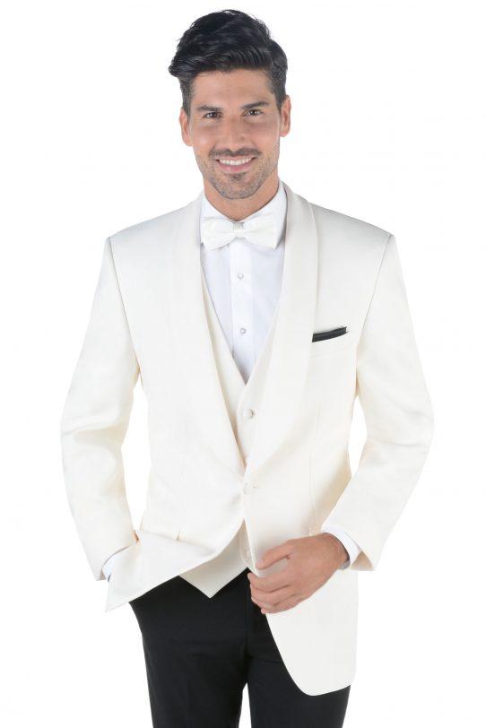 Man in Ivory shawl three quarter sized image