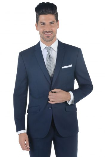 All Styles Navy Wedding Suit by Ike Behar
