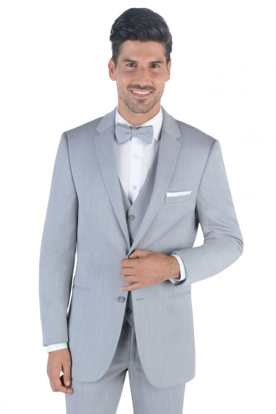 All Styles Light Grey Bedford Suit by Kenneth Cole