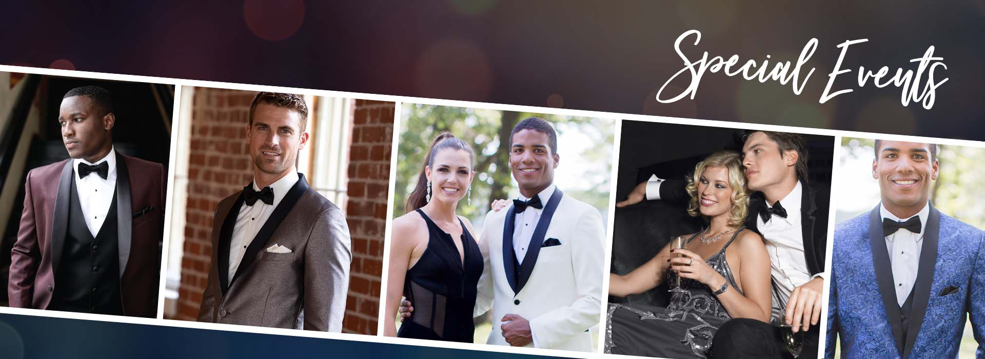 Special Events header image photo style