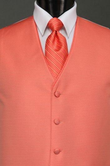 Vests Palm Beach Coral Sterling Vest – Striped Tie | Savvi Formalwear