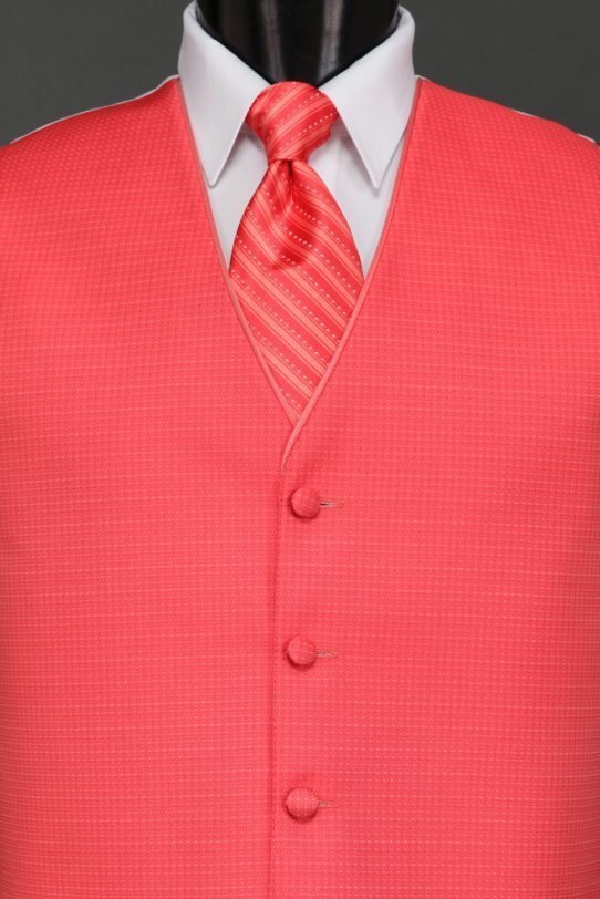 Vests Salmon Sterling Vest – Striped Tie | Savvi Formalwear