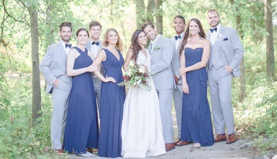 bride with bridal party