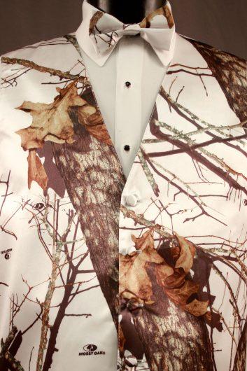 Vests Winter White Camouflage Vest