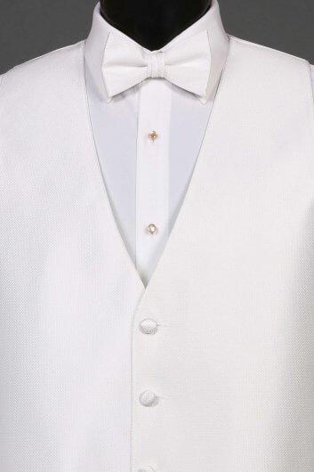 Vests White Bradbury Vest