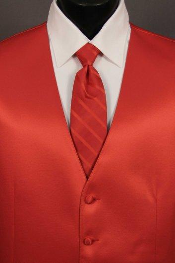 Ferrari Red Solid Vest