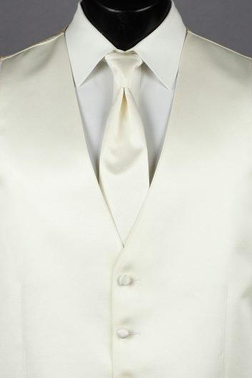 Vests Ivory Solid Vest