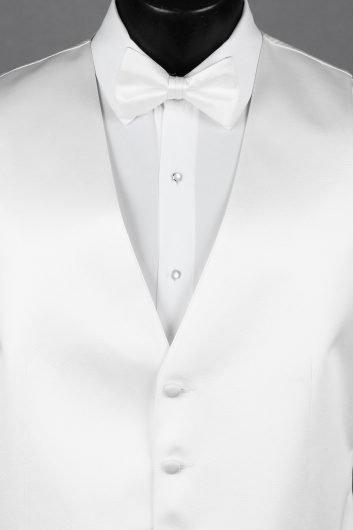 White Solid Vest