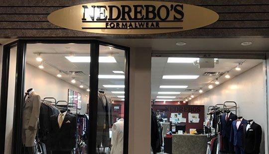 Nedrebo's Formalwear Janesville storefront