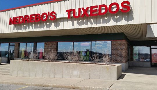 nedrebo's tuxedos store front in madison wisconsin - 2