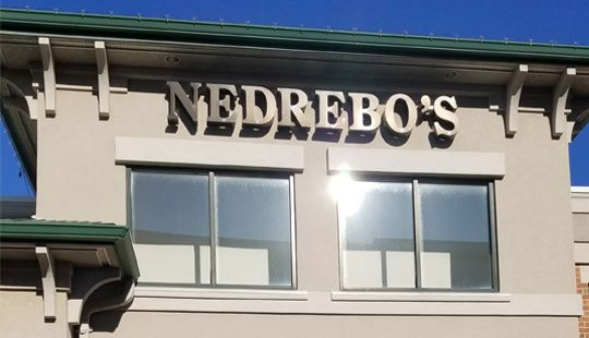 nedrebo's tuxedos store sign in madison wisconsin - 2