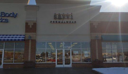 Savvi Formalwear Minnesota Coon Rapids storefront