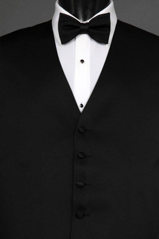 Black Solid Vest