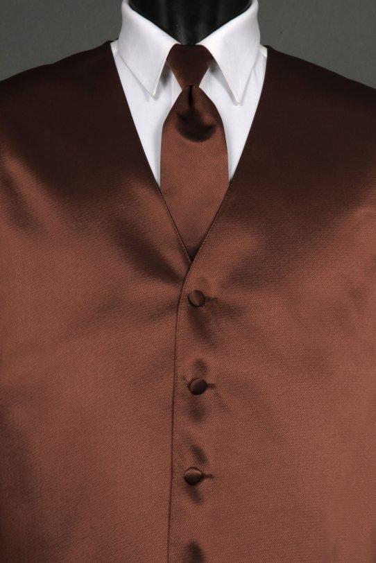 Vests Chocolate Solid Vest
