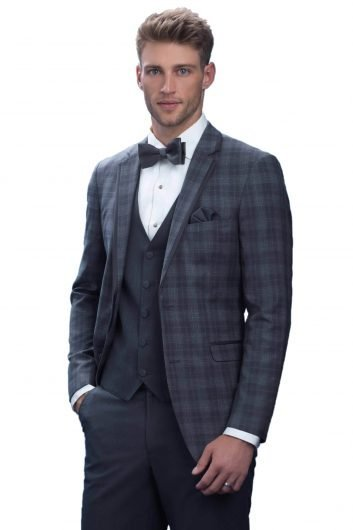 All Styles Grey Plaid Brunswick by Allure Men