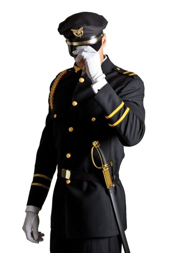 Black Military Cadet by Savvi Evening Collection