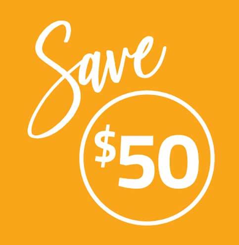 Save $50