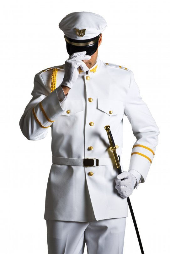 White Military Cadet by Savvi Evening Collection